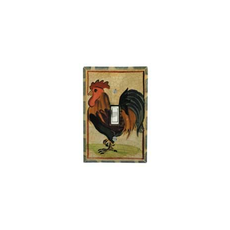 Rooster Single Toggle Switch Plate