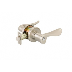 Satin Nickel Luzern Key-In Lever
