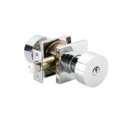 Polished Chrome Round Key-In Knob