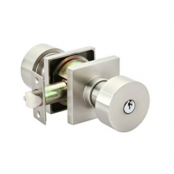 Satin Nickel Round Key-In Knob