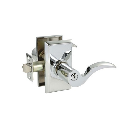Polished Chrome Cortina Key-In Lever