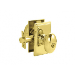 Lifetime Brass Egg Key-In Knob