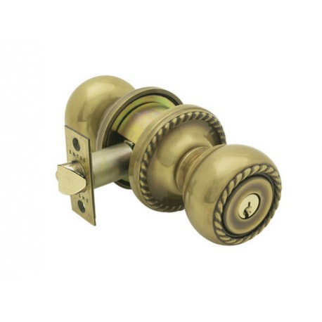 French Antique Roped Key-In Knob