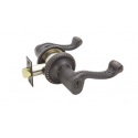 Oil Rubbed Bronze Roped Key-In Lever