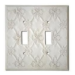 Decorative Baroque White Double Toggle