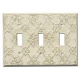 Decorative Baroque White Triple Toggle