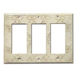 Decorative Baroque White Triple GFI