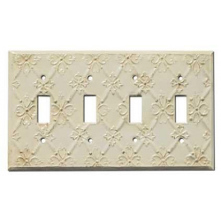 Decorative Baroque White Quad Toggle