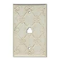 Decorative Baroque White Phone Jack