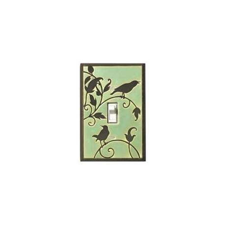 Green Songbird Single Toggle Switch Plate