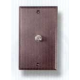 Bronze TV Cable Plate