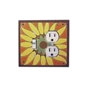 Sunflower Combo Switch Plate 1 Toggle/Outlet