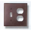 Bronze Single Toggle Outlet Combo