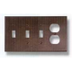 Bronze Triple Toggle Outlet Combo