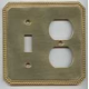 Polished Brass Beaded Single Toggle Outlet Combo
