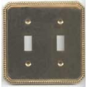 Polished Brass Beaded Double Toggle