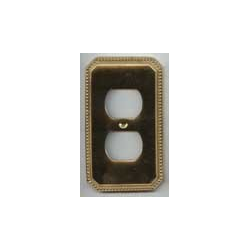 Polished Brass Beaded Outlet
