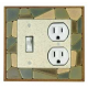 Mosaic Combo Switch Plate 1 Toggle/Outlet