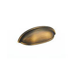 """Antique Light Brass Traditional Cup Pull 3"""""""