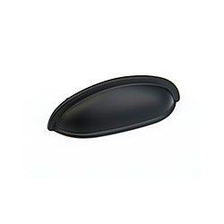 Flat Black Classic Cup Pull 3""