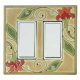 Red Flower Double Decora Switch Plate