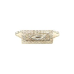 """White Brass Ornate Cup Pull 3.5"""""""