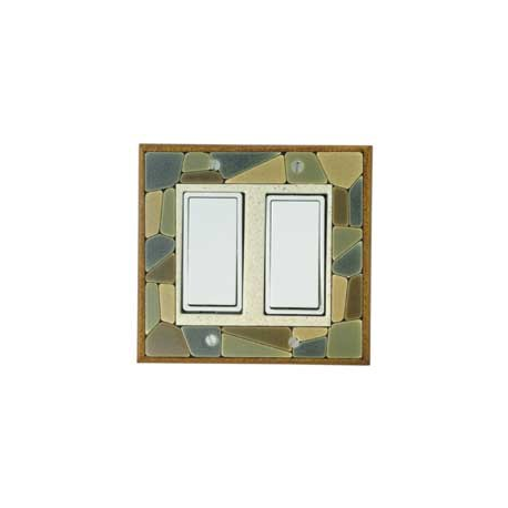 Mosaic Double Decora Switch Plate