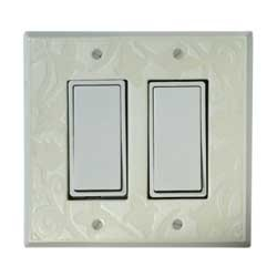 White Design Double Decora Switch Plate