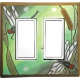 Dragonfly Double Decora Switch Plate
