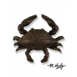 Michael Healy Oiled Bronze Blue Crab Knocker