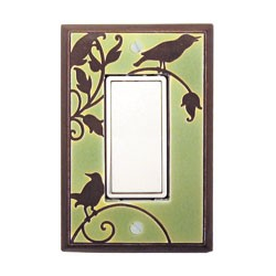 Green Songbird Single Decora Switch Plate