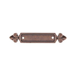 "Top Knobs Dover Backplate 2.5"" Old English Copper"