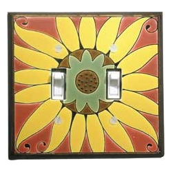 Sunflower Double Toggle Switch Plate
