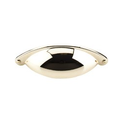 """Top Knobs Somerset Cup Pull 2.5"""" Polished Brass"""