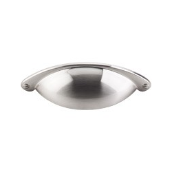 """Top Knobs Somerset Cup Pull 2.5"""" Brushed Satin Nickel"""