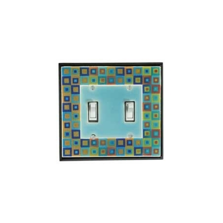 Tiny Tiles Double Toggle Switch Plate