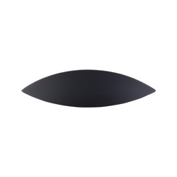 """Top Knobs Eyebrow Cup Pull 2.5"""" Flat Black"""
