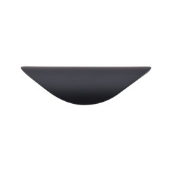 """Top Knobs Cup Pull 1.25"""" Flat Black"""