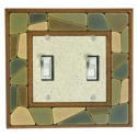 Mosaic Double Toggle Switch Plate