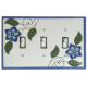 Blue Floral Ceramic Switchplates