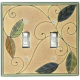 Natural Leaves Ceramic Switchplates