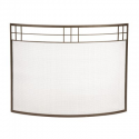 Arts & Crafts Curved Fireplace Screen