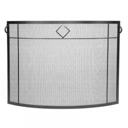 Diamond Curved Fireplace Screen