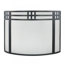 Gridwork Curved Folding Fireplace Screen