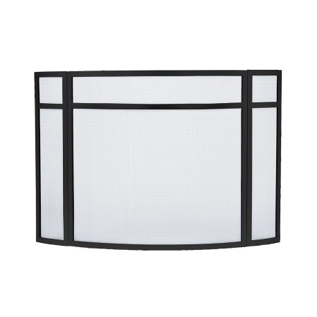 Panelled Curved Folding Fireplace Screen