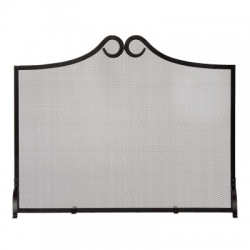 Black Flat Fire Screen