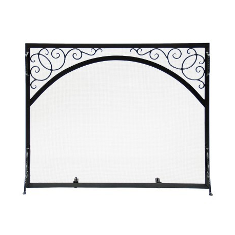 Small Sterling Flat Fire Screen