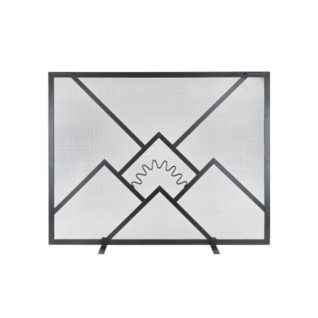 Small Sunrise Flat Fire Screen