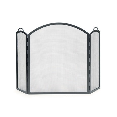 Large Arched 3-Fold Fire Screen