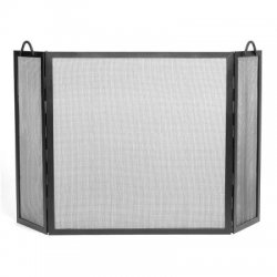 Large Twisted Rope Folding Fire Screen